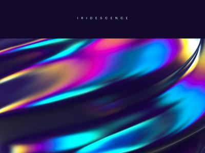 Iridescence gradient bold colourful iridescence 3d c4d freebie free wallpaper