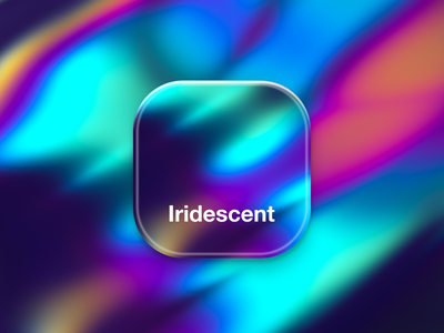 Iridescent App Icon iridescent gradient abstract bold colourful 3d icon app icon