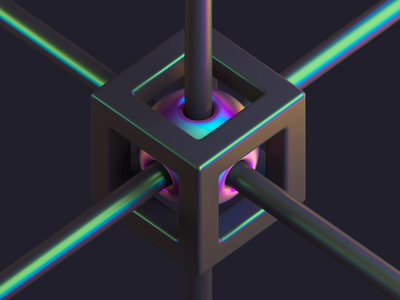 Isometric Tension iridescent gradient motion animation 3d cinema4d c4d isometric