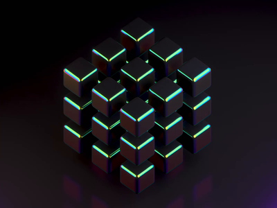Discombobulated nft gradient iridescence motion design c4d motion graphics 3d animation