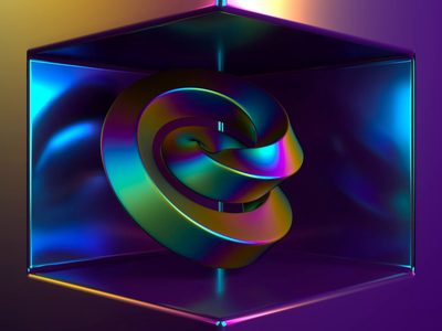 Kink iridescent gradient animation motion graphics c4d cinema4d nft abstract 3d