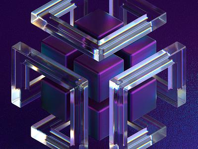Infinity Cube c4d cinema4d 3d
