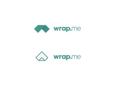 Wrap Me logo branding w paper wrapping paper wrap identity fold