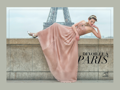 Dévoilée À Paris editorial fashion magazine bridal paris
