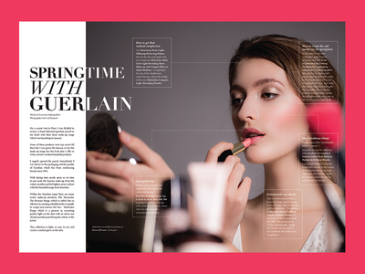 Springtime with Guerlain magazine editorial bridal wedding unveiled make up fashion