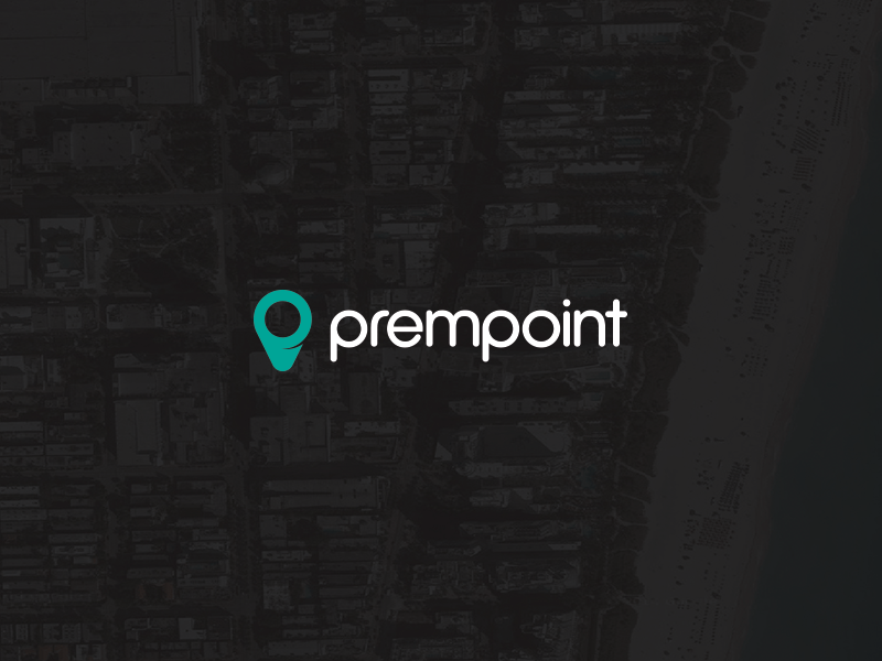 Prempoint Logo logo branding map pin location prempoint identity p