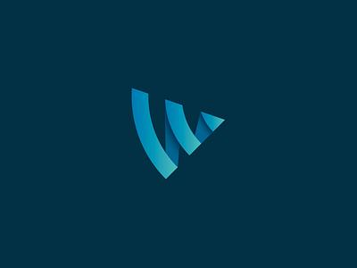 Wireless Logo Mark wireless logo identity branding signal w