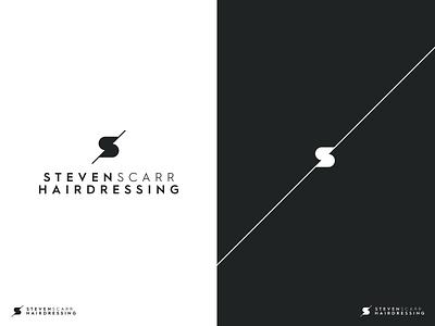 Steven Scarr Hairdressing salon hairdresser hairdressing identity monogram branding logo