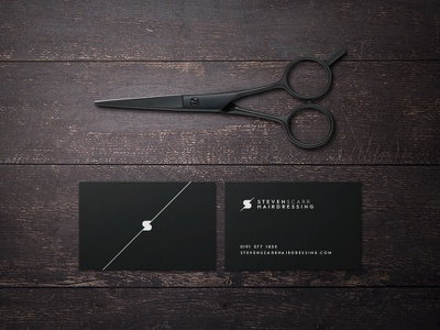 Salon Business Card stationery business card salon hairdresser hairdressing identity monogram branding logo