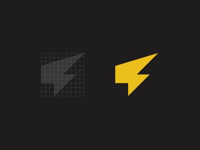 BOLT identity strike lightning bolt wip branding logo