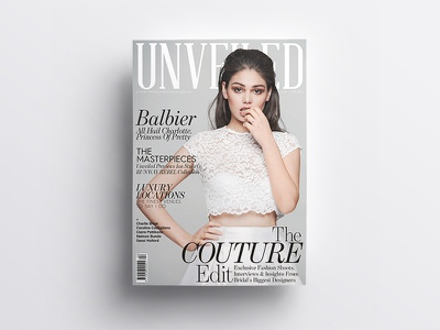 Unveiled Magazine magazine couture fashion model unveiled editorial bridal