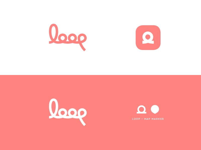loop WIP in the loop events loop identity branding logo