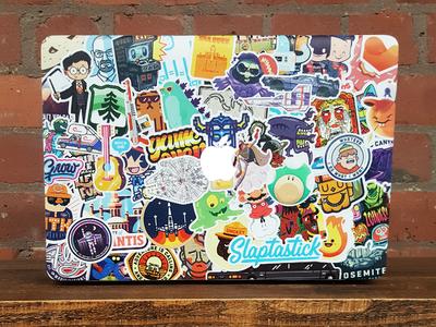 Slap-ta-fuck apple macbook pro slaptastick illustrators stickers