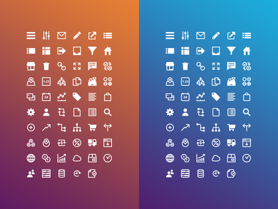 Square & Squircle iconography ui user interface icons marketing product api web icon ecommerce moltin