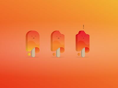 Hello, ok, wtf! moltin web api product marketing illustration ice lolly popsicle lolly