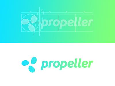 Propeller logo identity branding propeller spin visual logo mark logo design