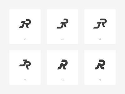 JR Monogram jr r j monogram branding typography identity logo