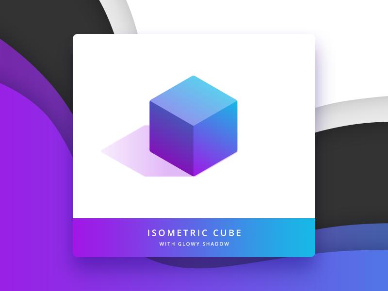 C U B E colourful gradient isometric marketing product api web ecommerce moltin