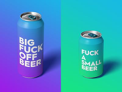 Honest Beer honest packaging alcohol fuck swearing beer gradient