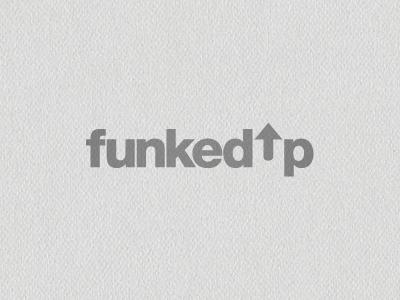 Funked Up branding logo helvetica negative space dj dj logo