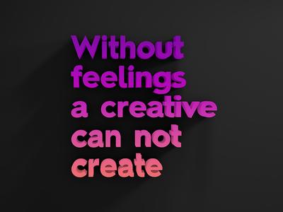 Feelings creative feelings gradient typography c4d