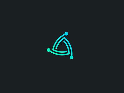 Atomic grid fibonacci workshop branding icon identity logo atomic atom