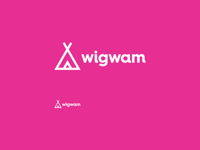 wigwam tipi wigwam simple identity branding logo