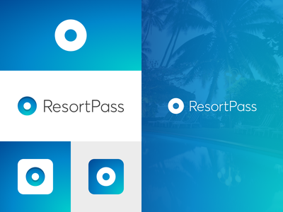 Oasis Concept holiday poolside oasis resort booking site clean minimal travel vacation logo branding identity
