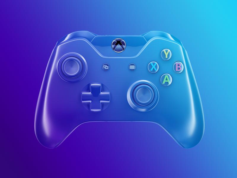 Xbox - Custom Controller xbox360 xboxone xbox skin gradient microsoft livery gaming gamer controller
