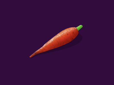 Roasted Myself texture isometric carrot inktober inktober 2018