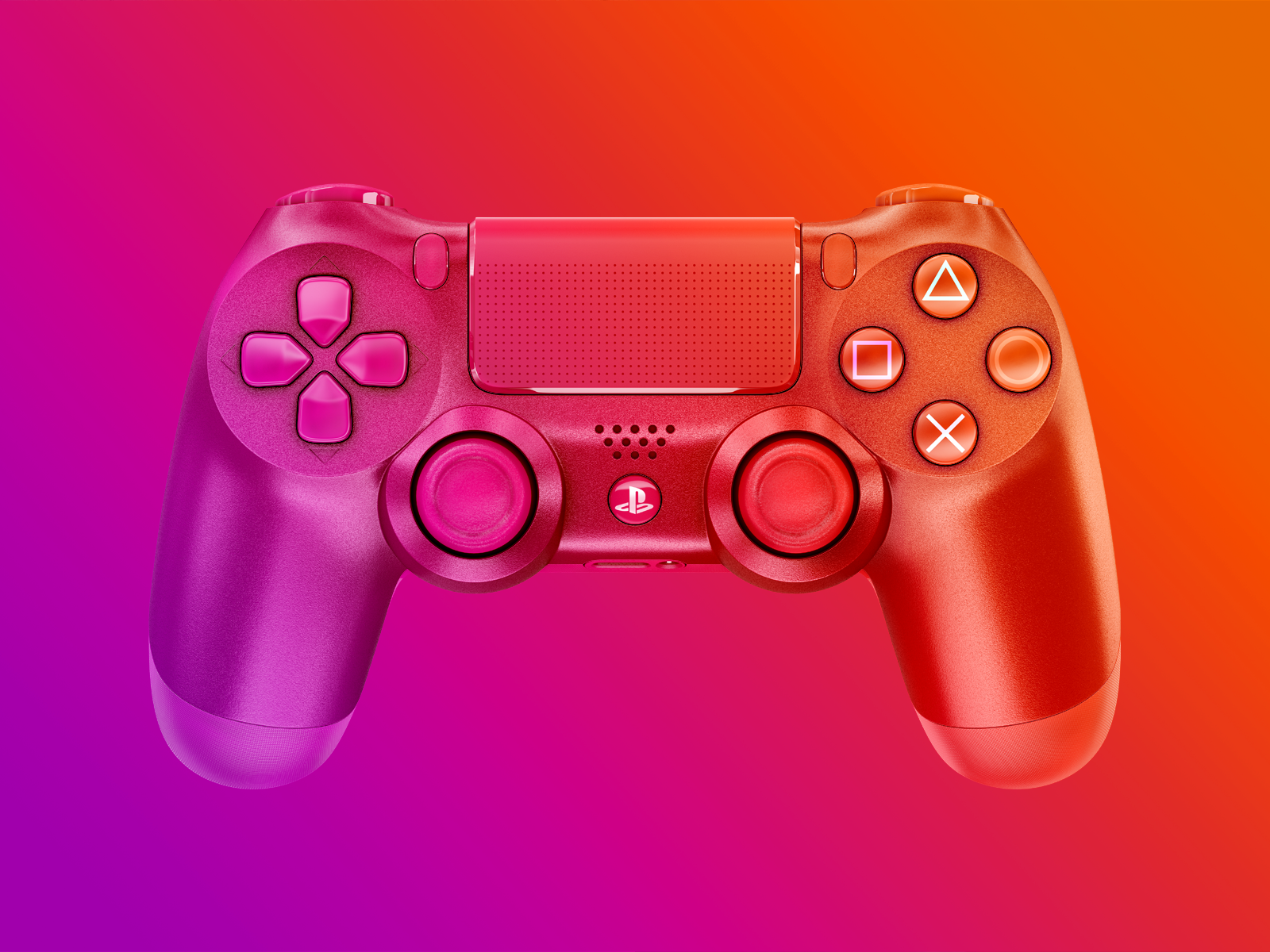 GRADIENT EDITION gaming gamer game sony mockup playstation ps4 gradient design gradient dual shock controller