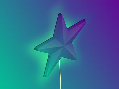 Star glowing glow star isometric inktober 2018 inktober