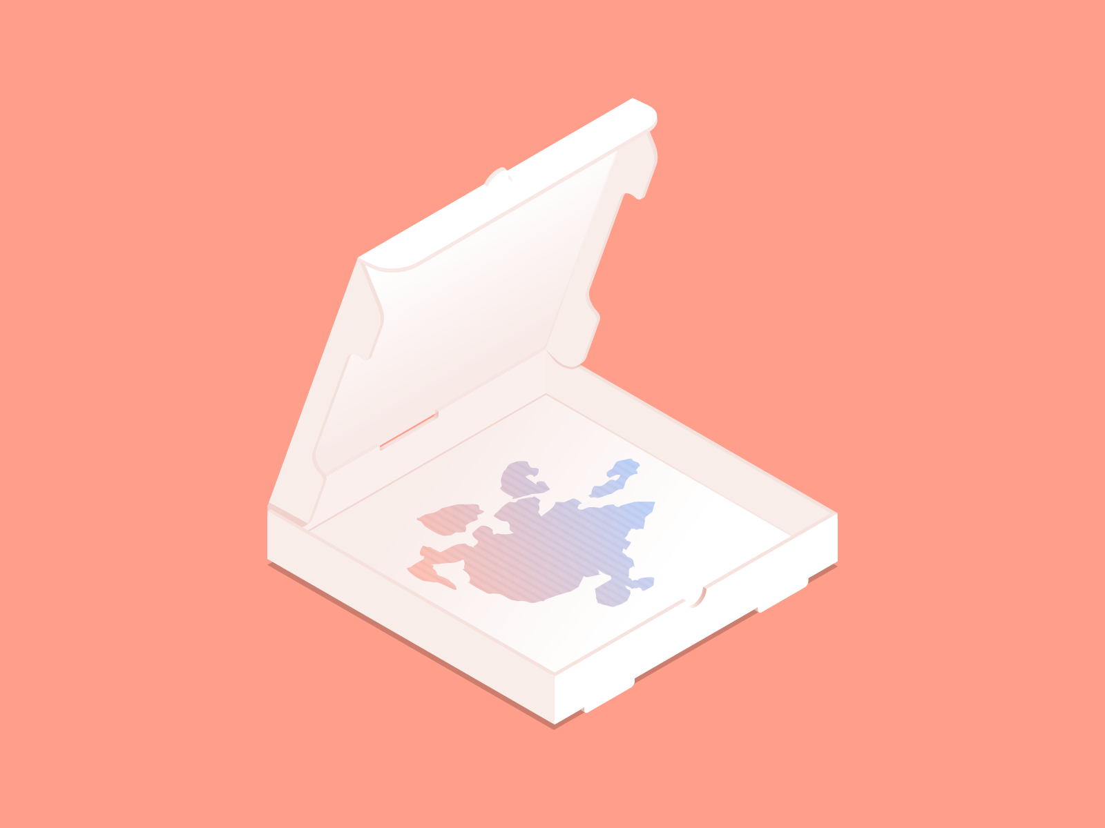Toxipizza gradient isometric illustration isometric inktober2018 inktober fast food pizza box pizza