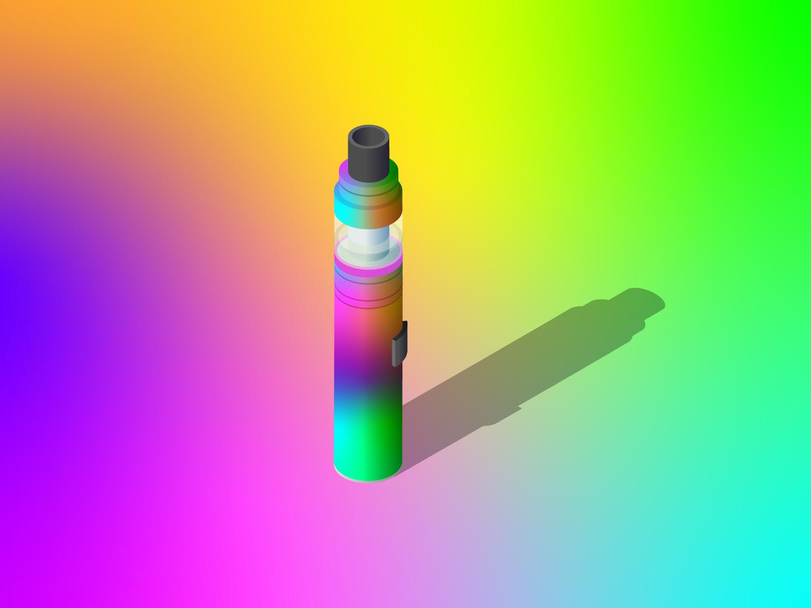 Weak Willed gradient rainbow isometric inktober 2018 inktober