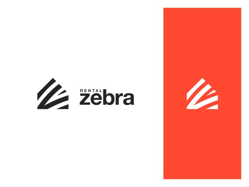 zebra striped zebra logo branding identity icon mark rental rent property real estate