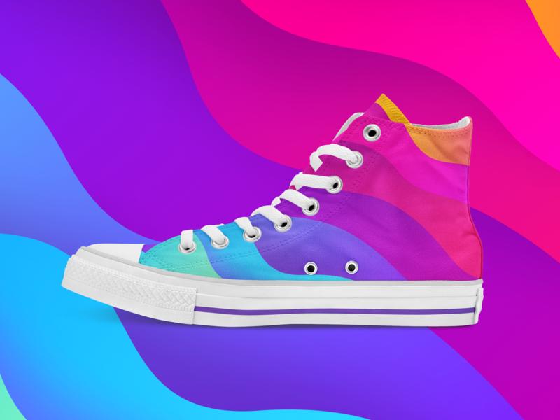 If Grabient did sneakers converse grabient gradient