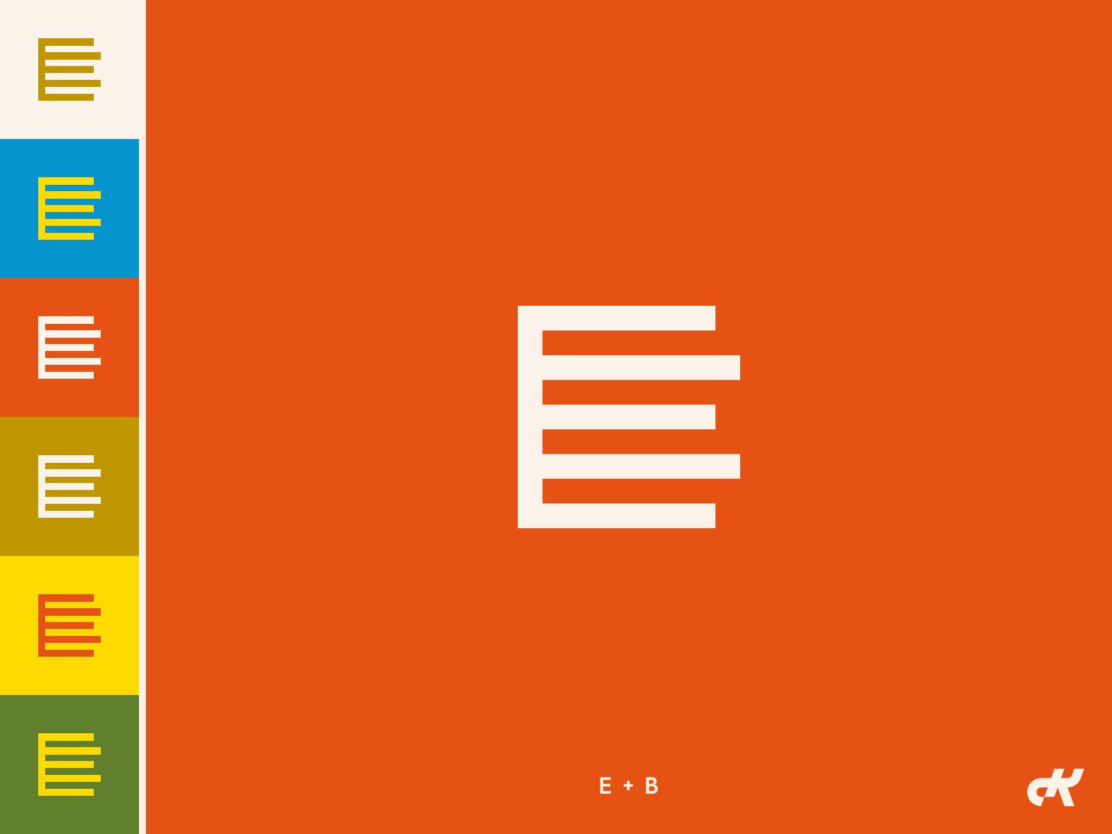 EB Monogram eb b e identity branding simple logo monogram