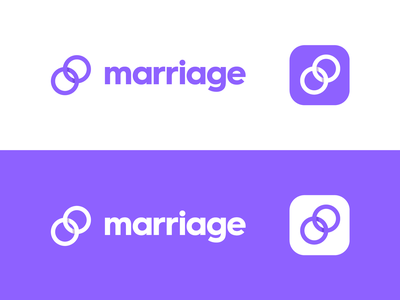 Marriage modern wedding marriage branding identity logo