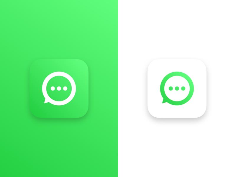 WhatsApp Icon app icon messaging app gradient identity branding messaging icongraphy icon whatsapp