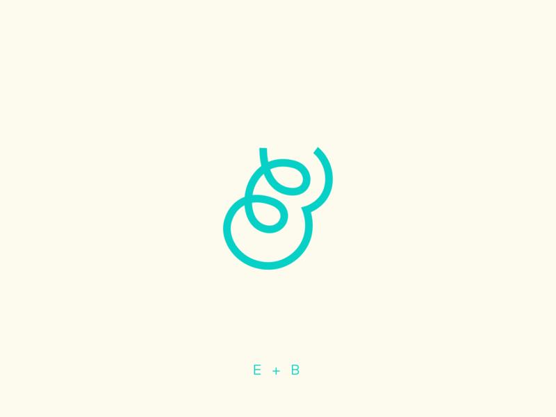 EB Monogram b e monogram eb script identity branding logo
