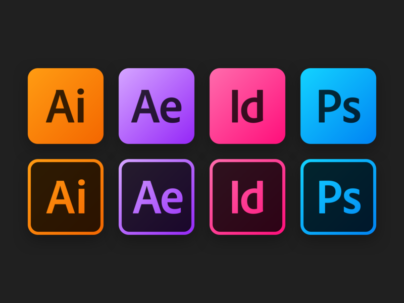 Adobe Icons photoshop indesign after affects illustrator app icon icon icons adobe