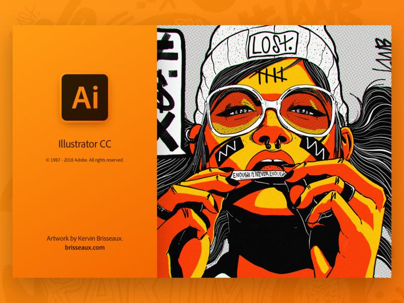 Illustrator Splash gradient ui user interface kervin brisseaux creative cloud adobe illustrator adobe