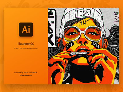 Illustrator Splash gradient ui user interface kervin brisseaux creative cloud adobe illustrator adobe
