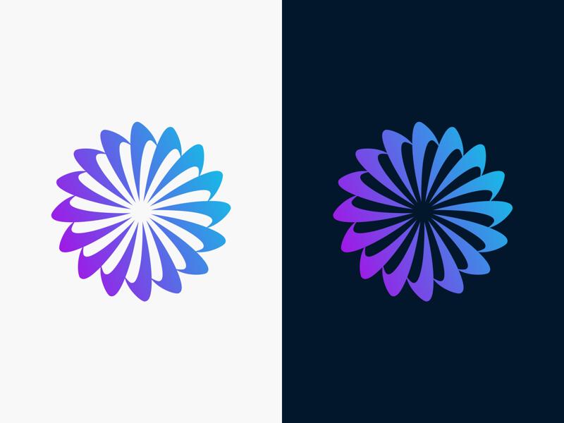 Revolve spin revolve icon gradient identity brand logo