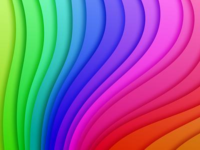 Gradient bold bright colourful shadows gradient gradients