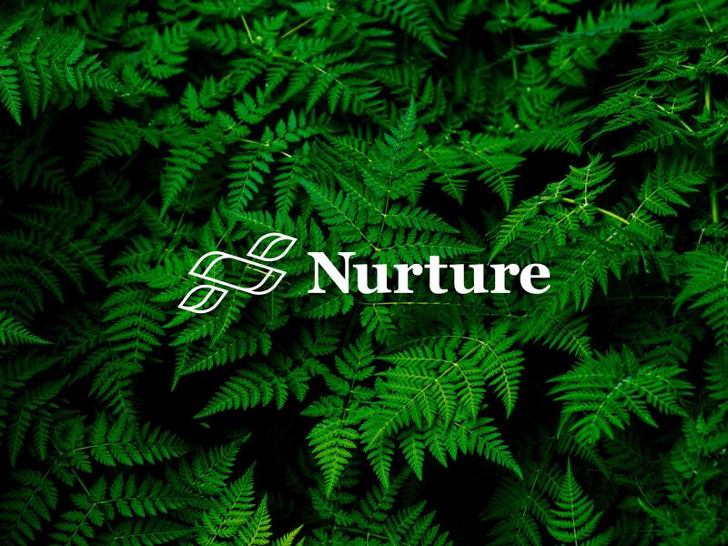 Nurture ecology ecofriendly leaves leaf unsplash brand identity logo nature nurture
