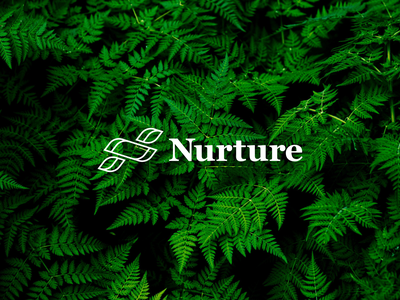 Nurture ecology ecofriendly leaves leaf unsplash brand identity logo nature nurture