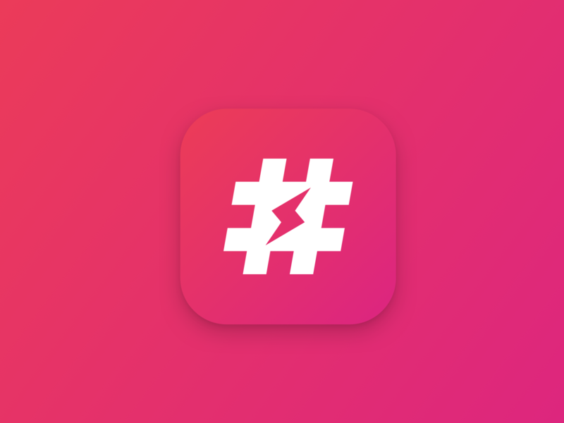 Jetpack hashtags instagram lightning hashtag jetpack jetpack app redesign icongraphy icon