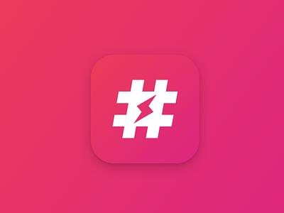Jetpack hashtags instagram lightning hashtag jetpack jetpack app redesign icongraphy icon