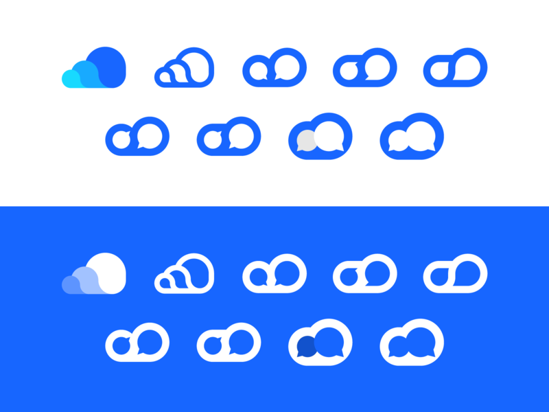 CloudChat clouds branding identity logo rebound messaging chat cloud cloudchat